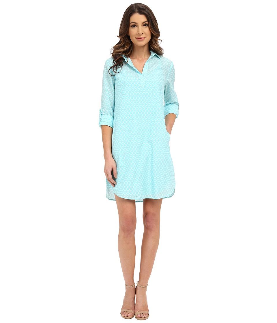 KUT from the Kloth Long Sleeve Shirt Dress (Seafoam) Women