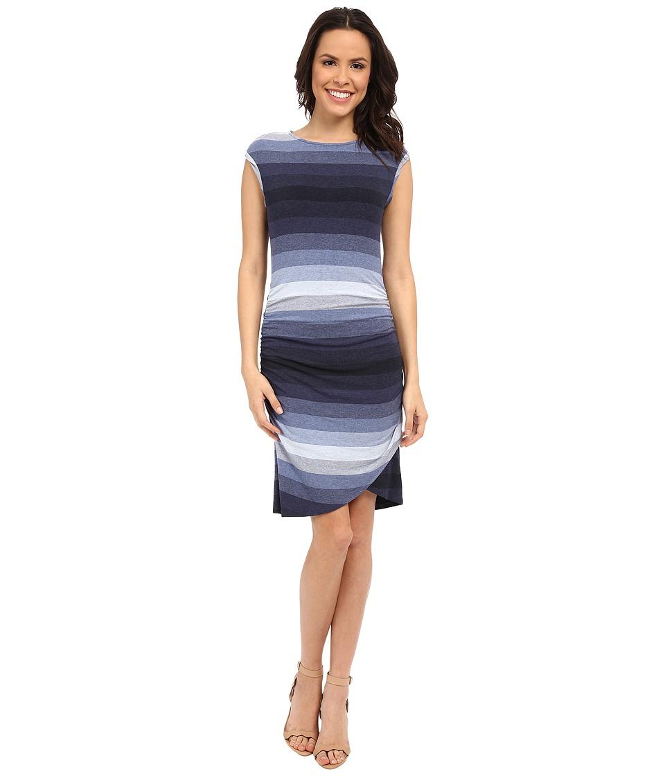 KUT from the Kloth - Bryce Dress (Navy/Light Blue) Women's Dress