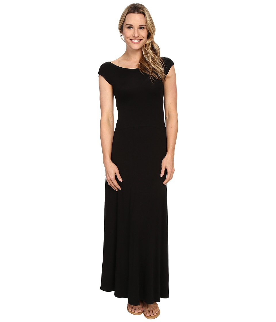Karen Kane - V-Back Maxi Dress (Black) Women's Dress