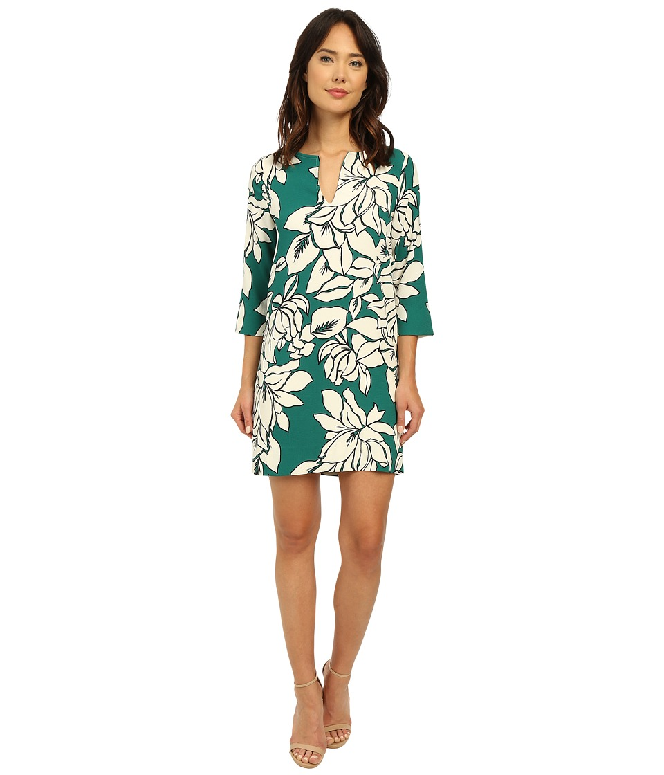 Karen Kane - Magnolia Print Shift Dress (Green) Women's Dress