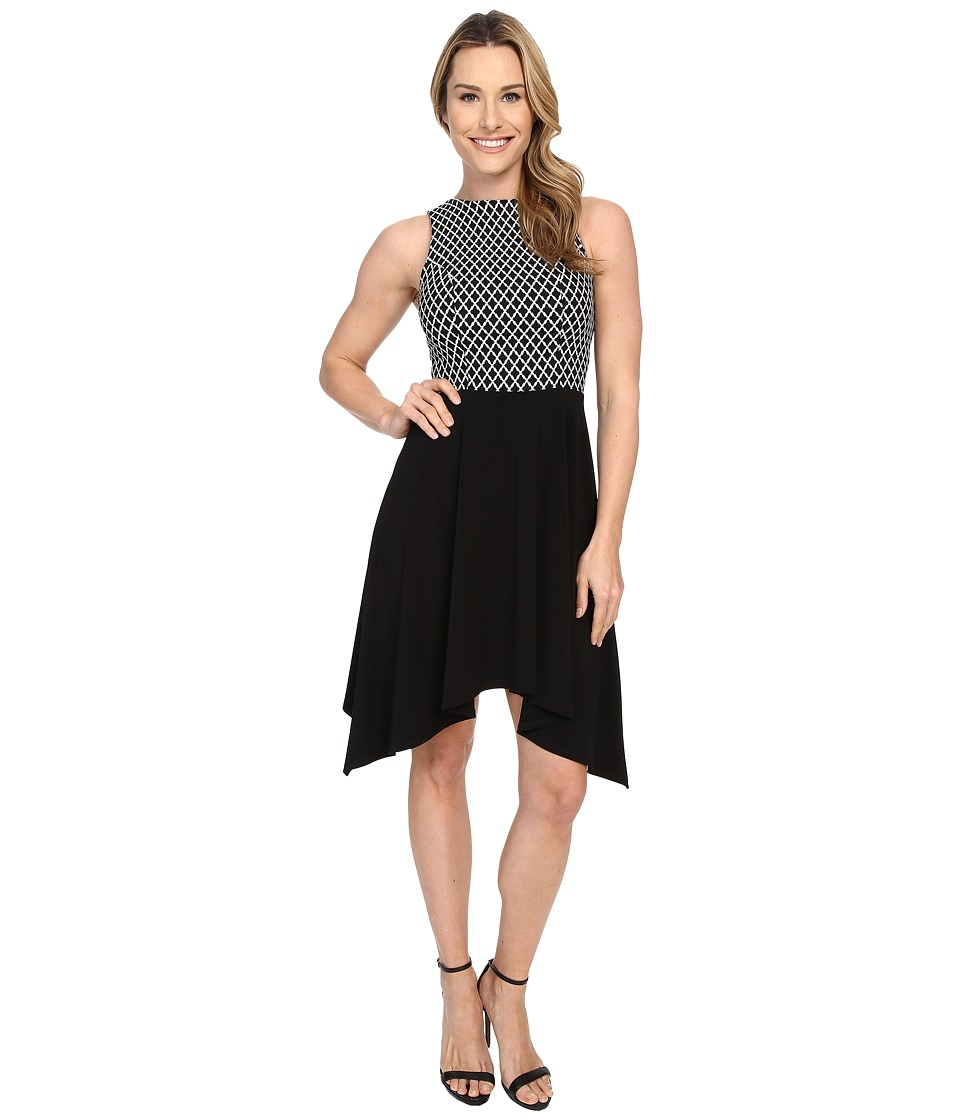 Karen Kane - Diamond Contrast Handkerchief Dress (Bow) Women's Dress