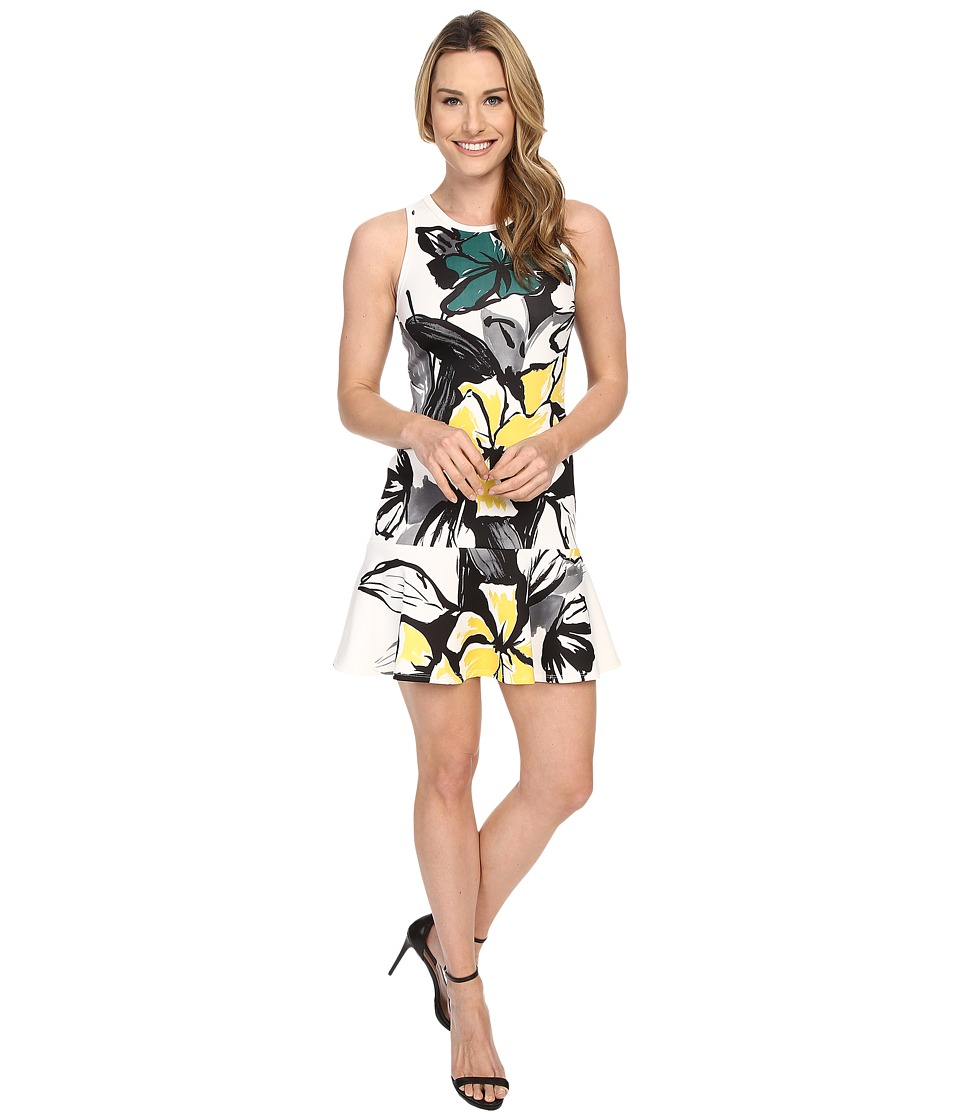 Karen Kane - Floral Scuba Flirt Dress (Print) Women's Dress