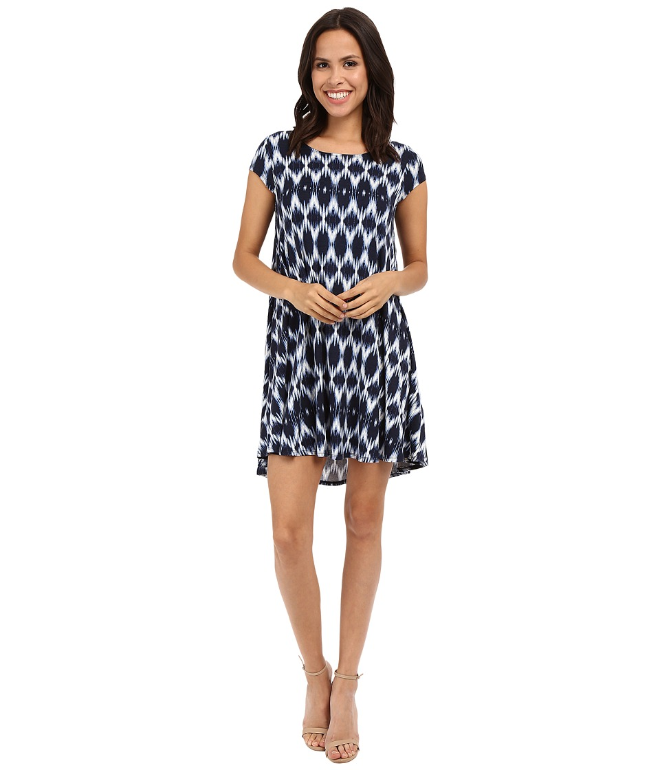 Karen Kane - Blurred Ikat Maggie Trapeze Dress (Print) Women's Dress