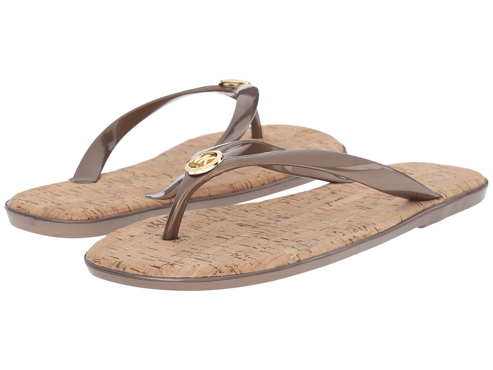 MICHAEL Michael Kors - Jet Set MK Jelly (Bronze PVC 1) Women's Sandals
