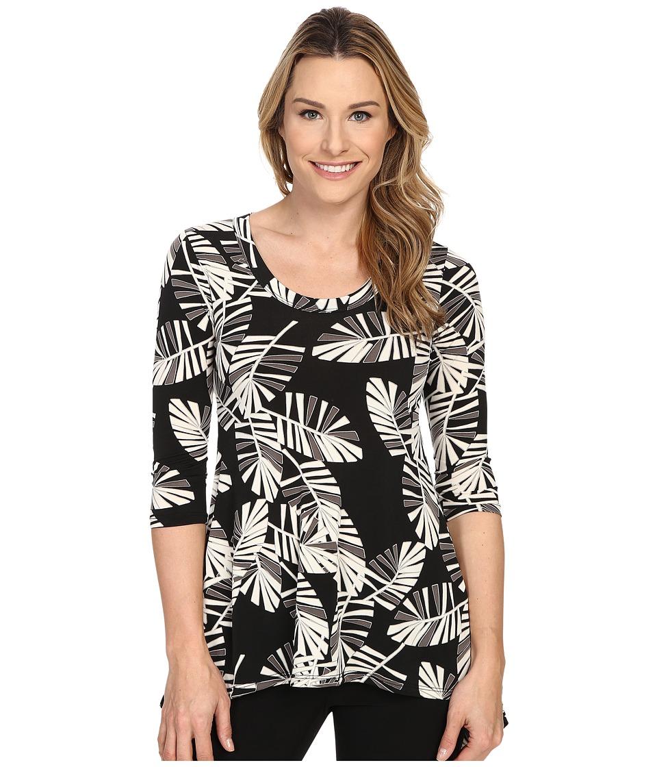 Karen Kane - Palm Print Handkerchief Top (Print) Women's T Shirt