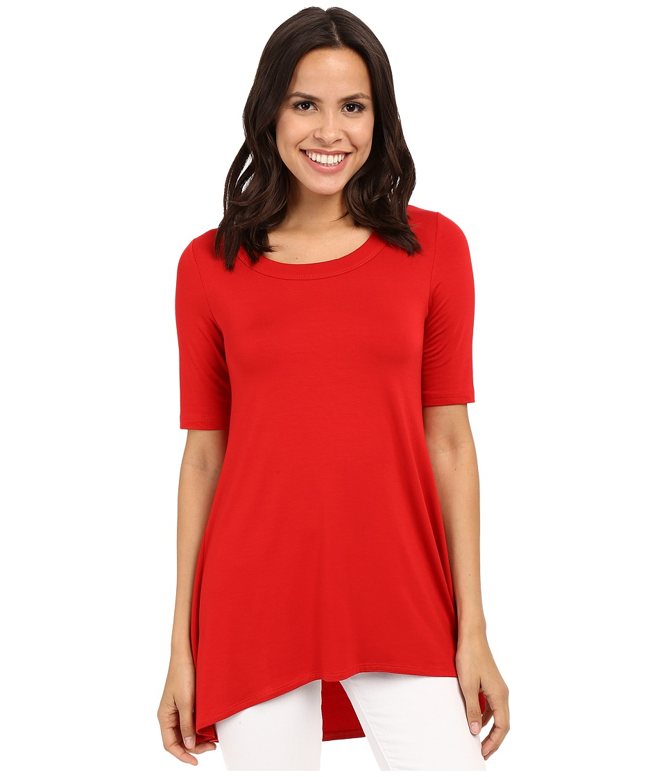 Karen Kane - Pencil Sleeve Tunic Hi-Lo Top (Fire) Women's Blouse
