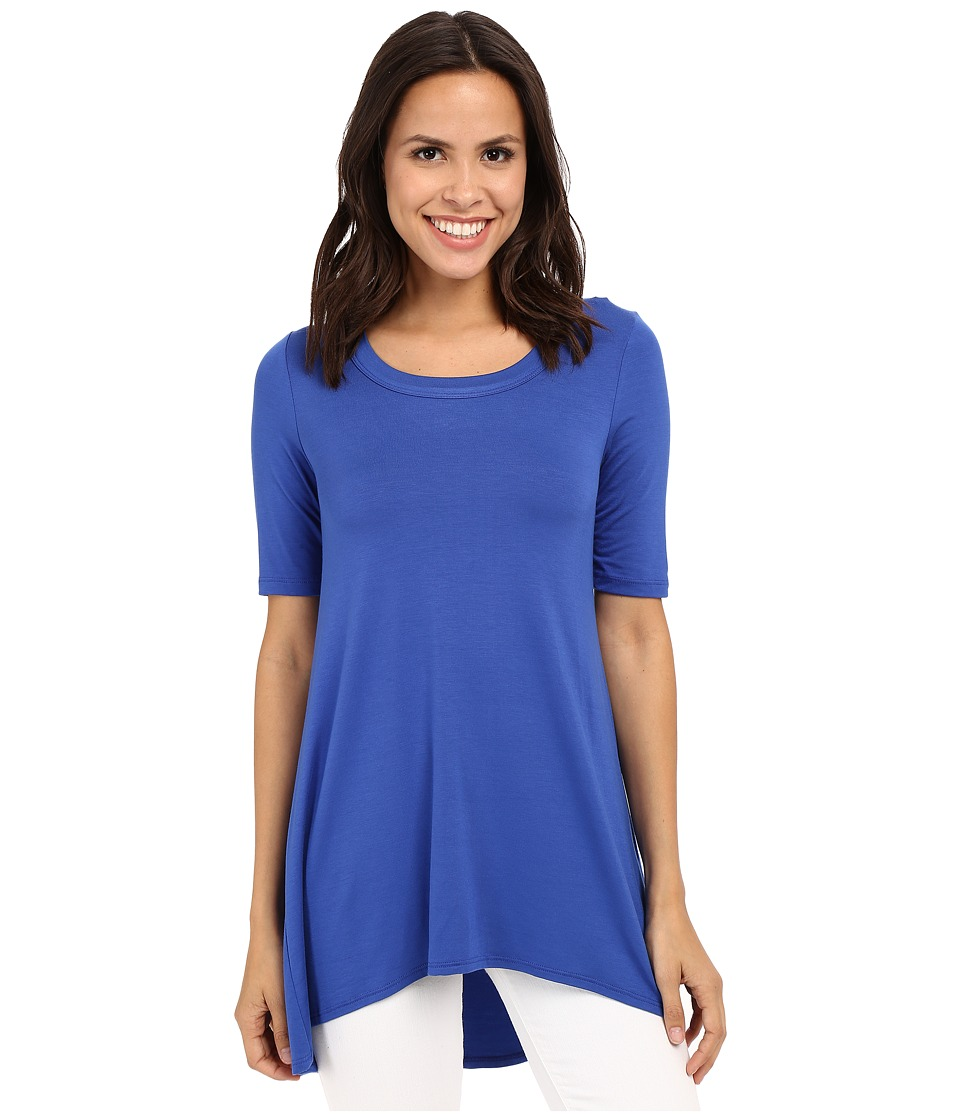 Karen Kane - Pencil Sleeve Tunic Hi-Lo Top (Water) Women's Blouse