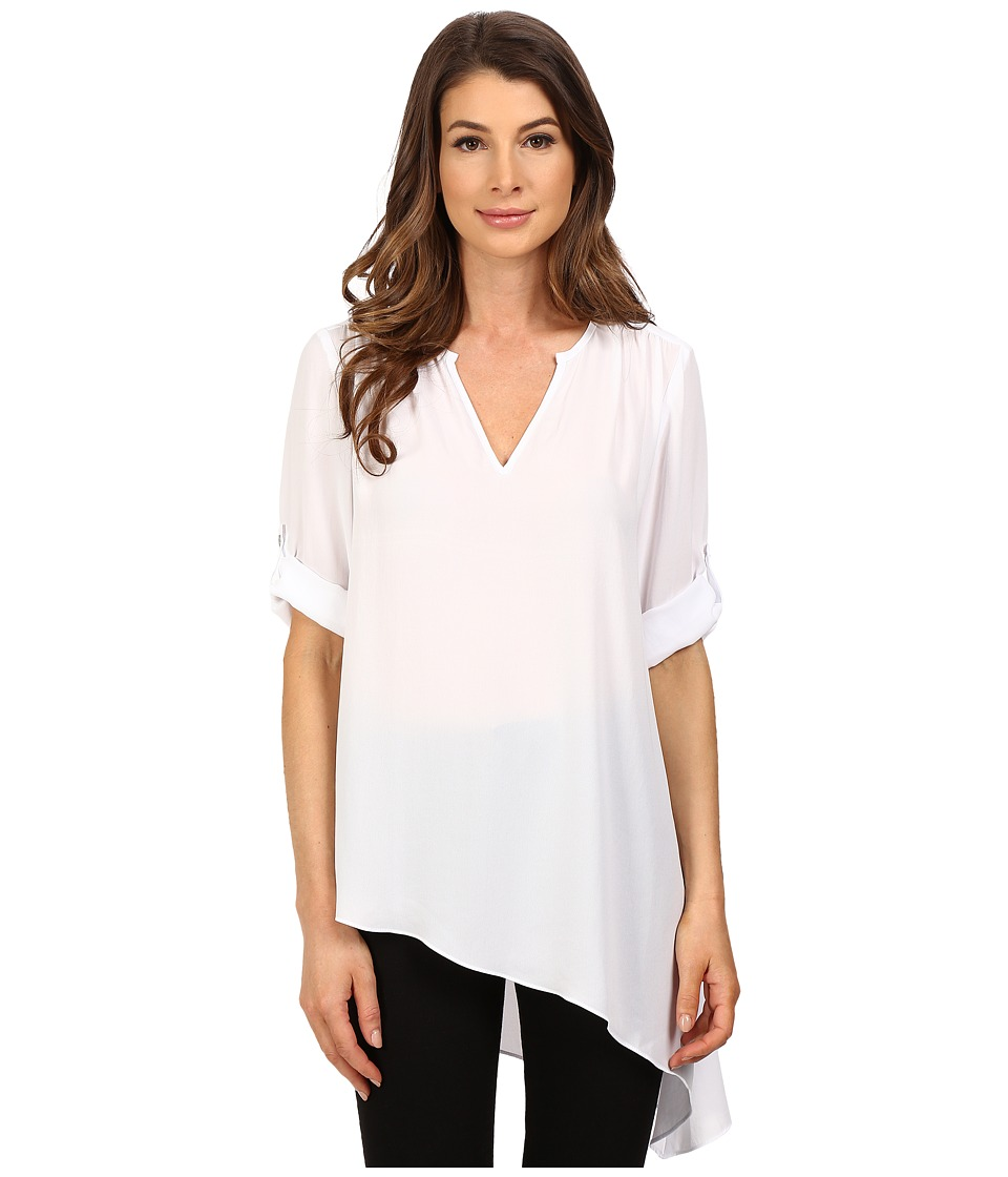 Karen Kane - Roll-Tab Asymmetrical Top (Off-White) Women's Clothing