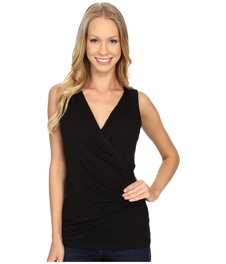 Karen Kane - Sleeveless Faux Wrap Top (Black) Women's Sleeveless