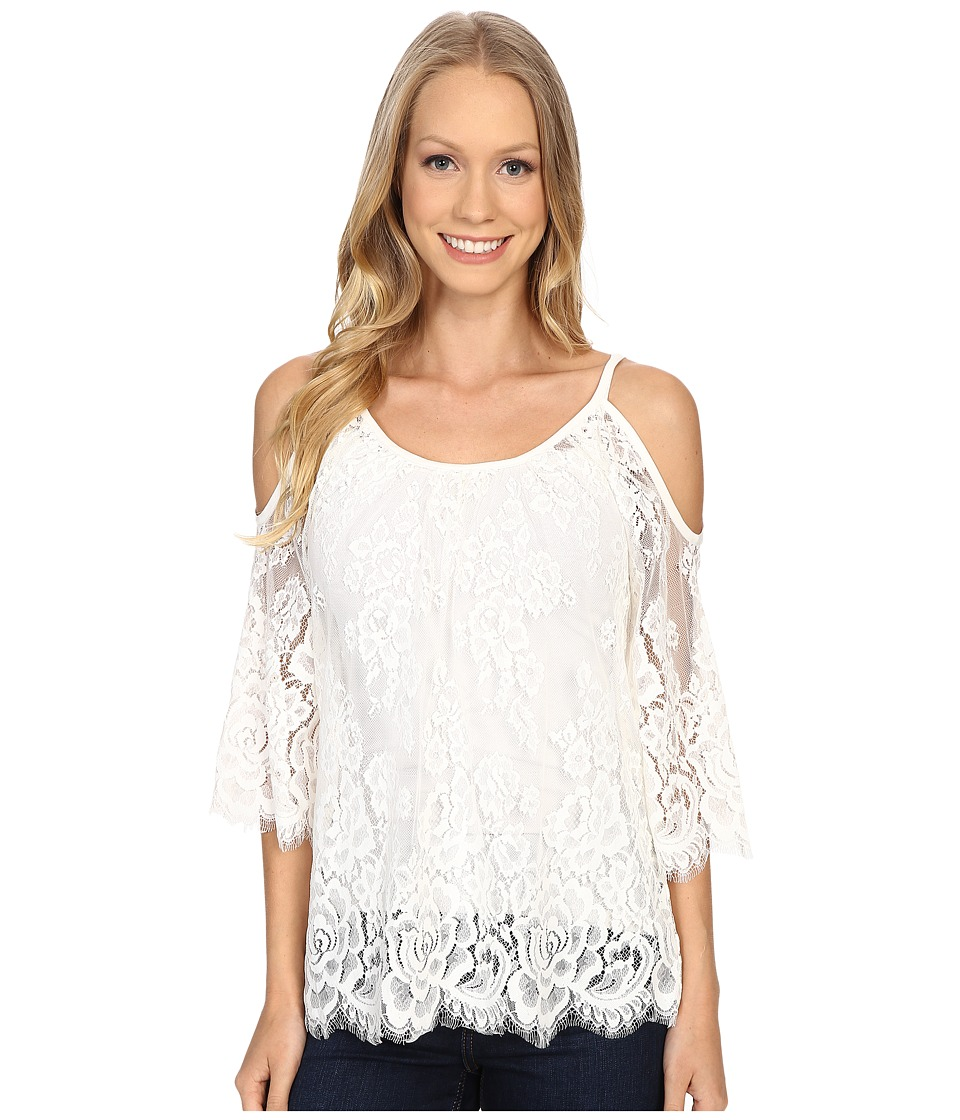 Karen Kane - Cold Shoulder Lace Top (Off-White) Women's Blouse