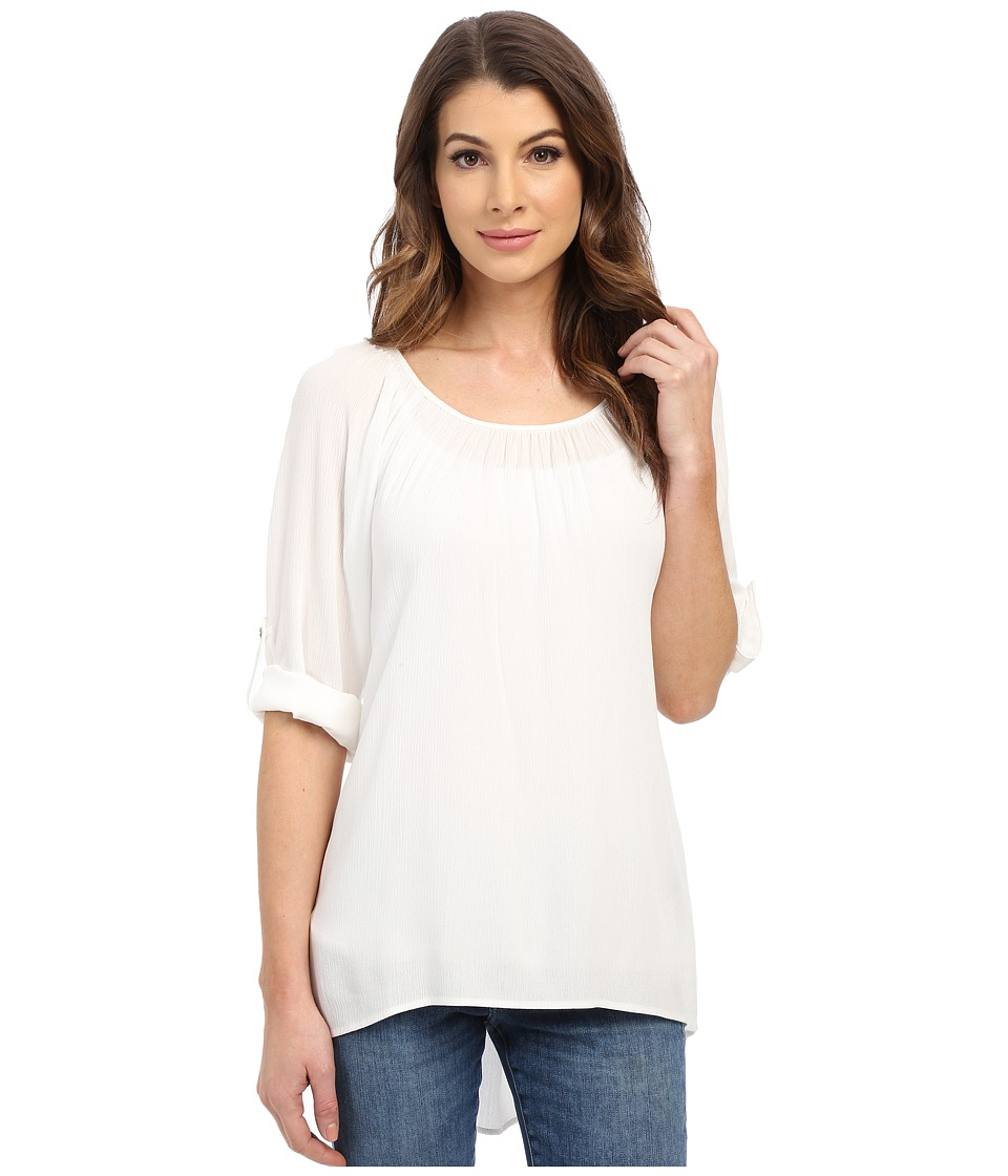 Karen Kane - Roll-Tab Hi-Lo Top (Cream) Women's Clothing