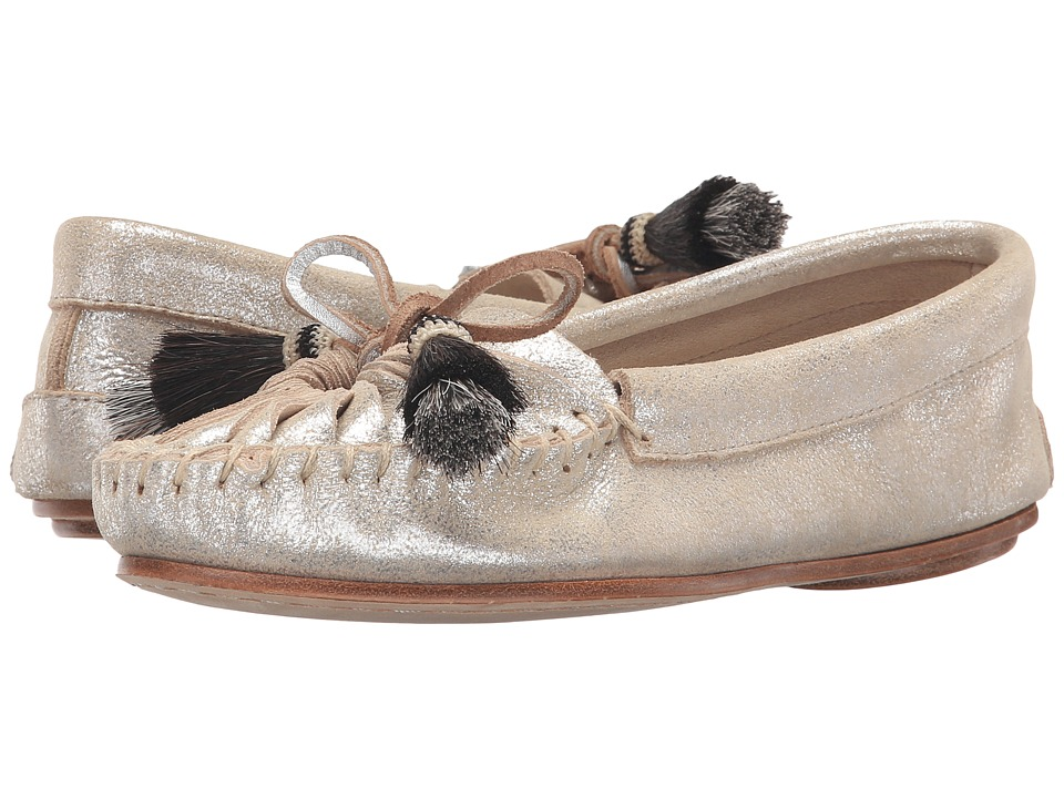 Loeffler Randall - Lois (Silver Metallic Suede/Black Natural Horse Hair) Women's Shoes