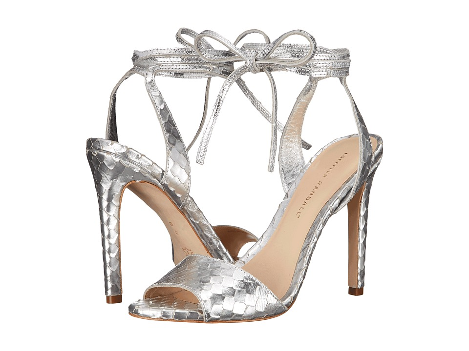 Loeffler Randall - Ellie (Silver Snake Print Leather) Women's Shoes