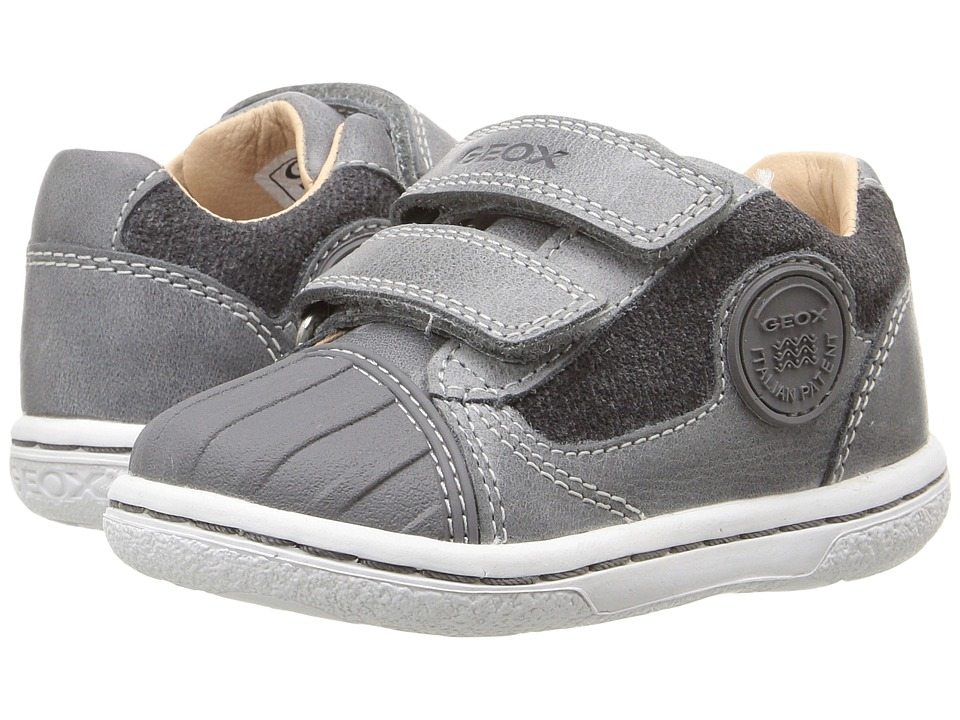 Geox Kids - Baby Flick Boy 49 (Toddler) (Dark Grey) Boy's Shoes