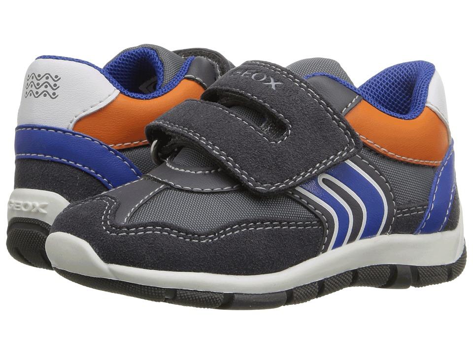 Geox Kids - Baby Shaax Boy 20 (Toddler) (Dark Grey/Royal) Boy's Shoes