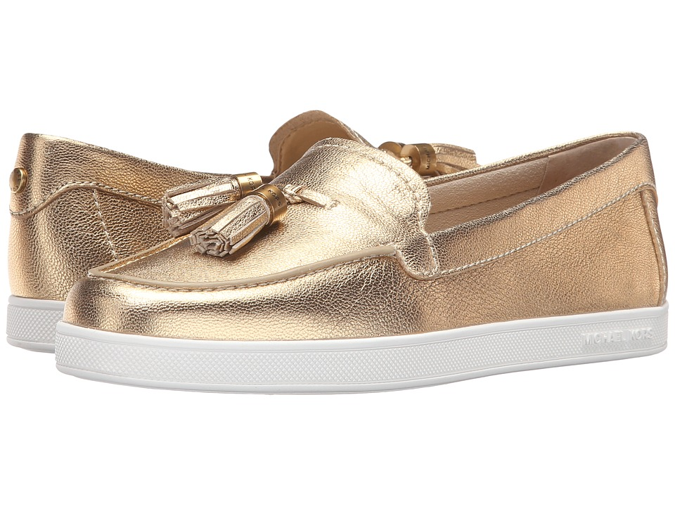 MICHAEL Michael Kors - Callahan Moccasin (Pale Gold Tumbled Metallic) Women's Shoes
