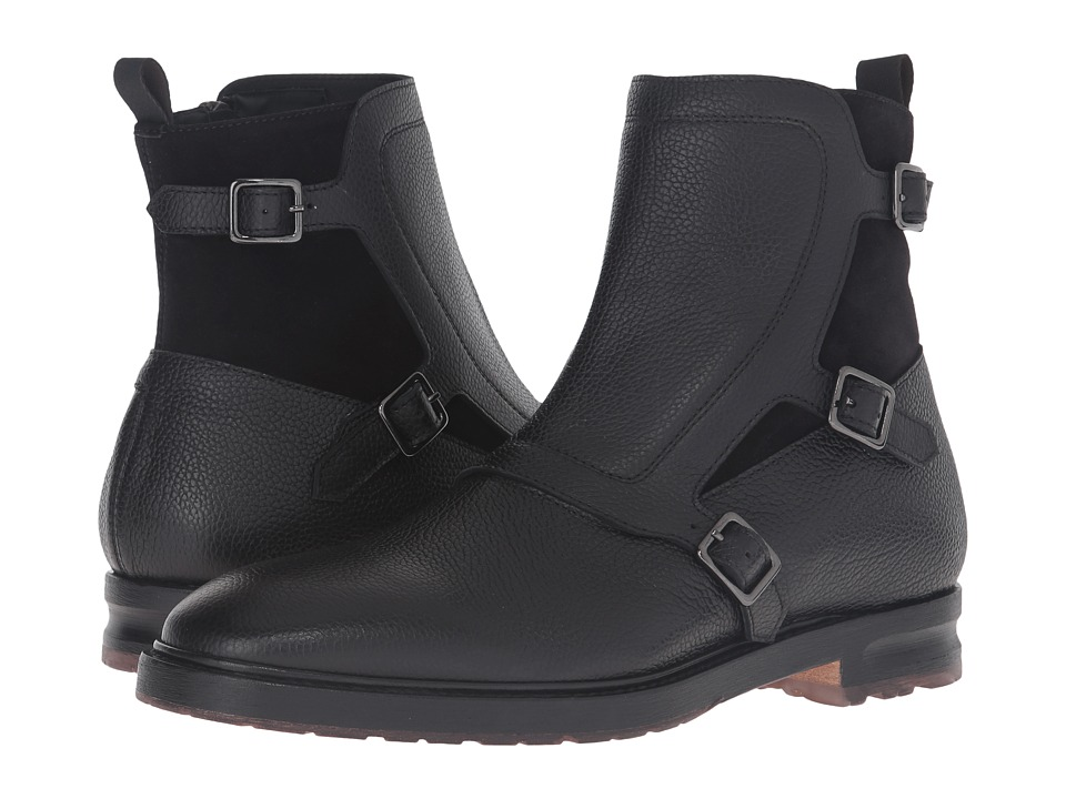 Alexander McQueen - Gable 3 Buckle Boot (Black) Men's Boots