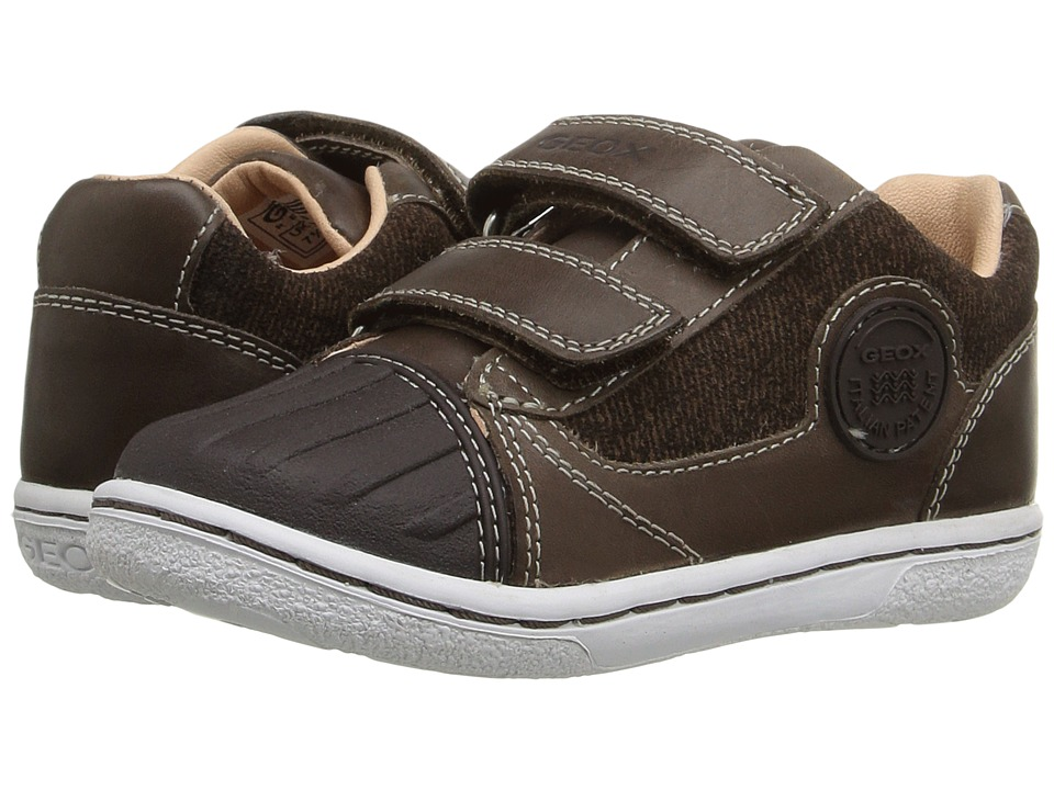 Geox Kids - Baby Flick Boy 49 (Toddler) (Coffee) Boy's Shoes