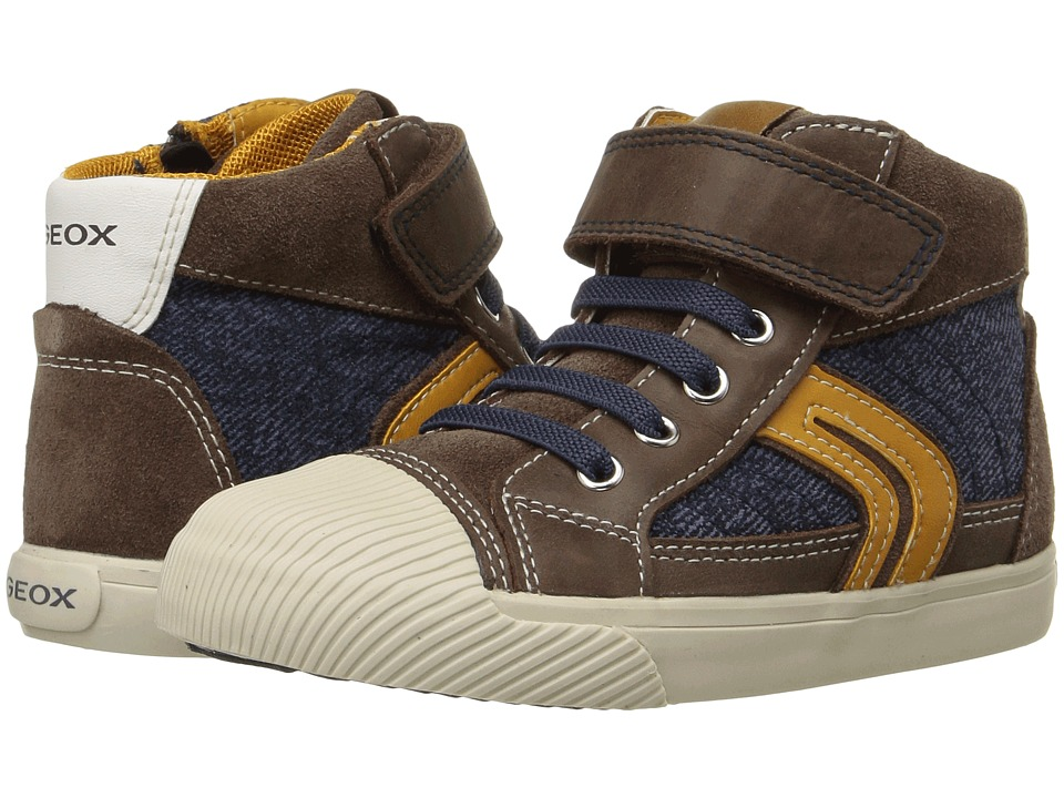 Geox Kids - Baby Kiwi Boy 77 (Toddler) (Dark Brown/Navy) Boy's Shoes