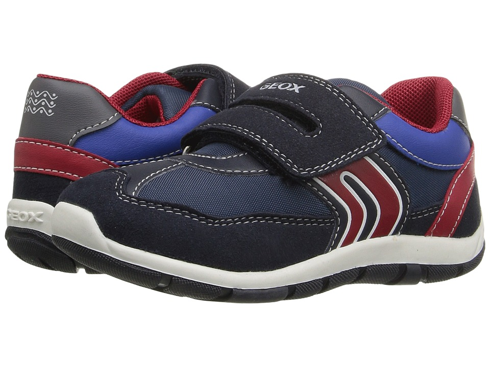 Geox Kids - Baby Shaax Boy 20 (Toddler) (Navy/Red) Boy's Shoes