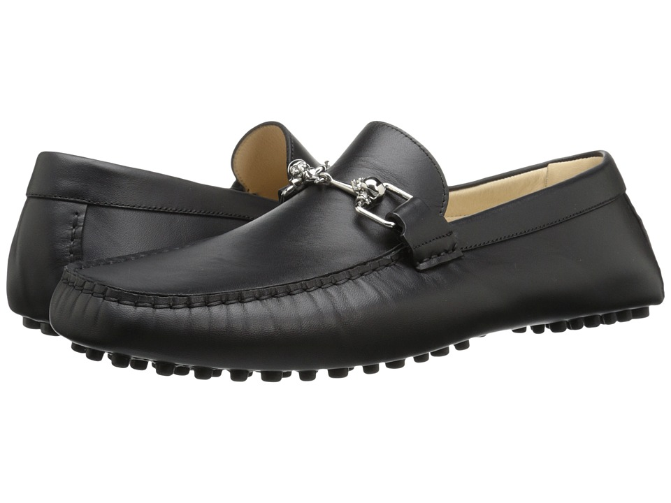 Alexander McQueen - Driver w/ Skull Bit Loafer (Black) Men's Slip on Shoes