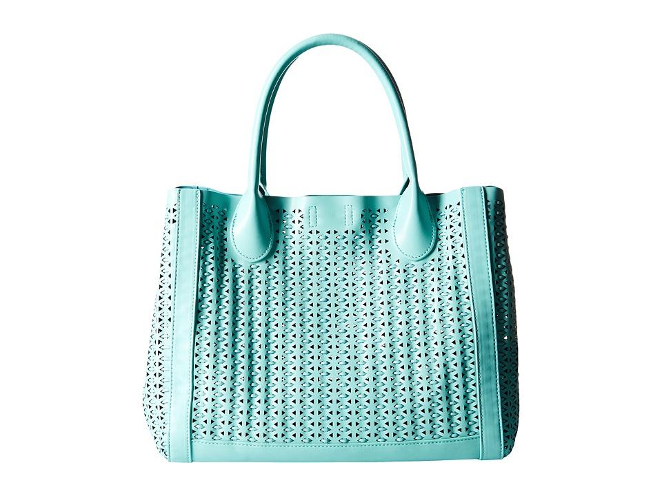 Steve Madden - Bweavie Tote (Blue) Tote Handbags
