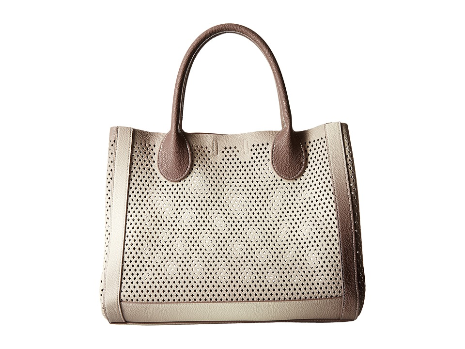 Steve Madden - Bperfie Perforated Bag in Bag (Taupe Multi) Tote Handbags