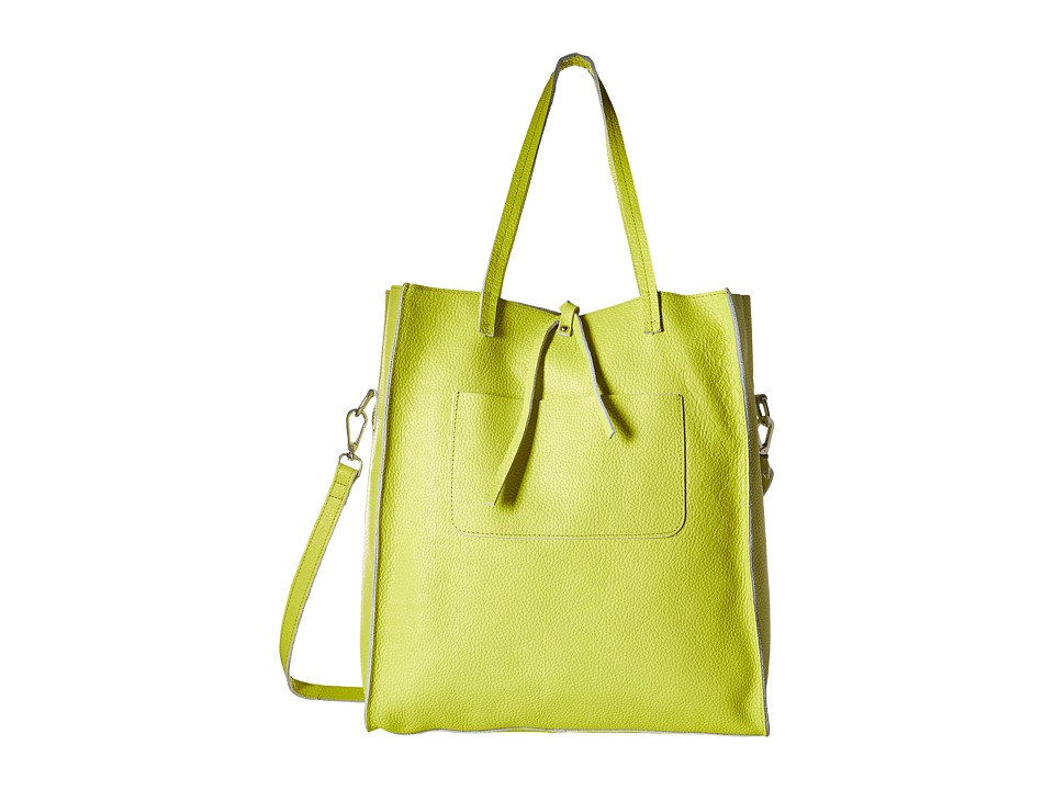 Steve Madden - Bnixxx Leather Tote (Citron) Tote Handbags