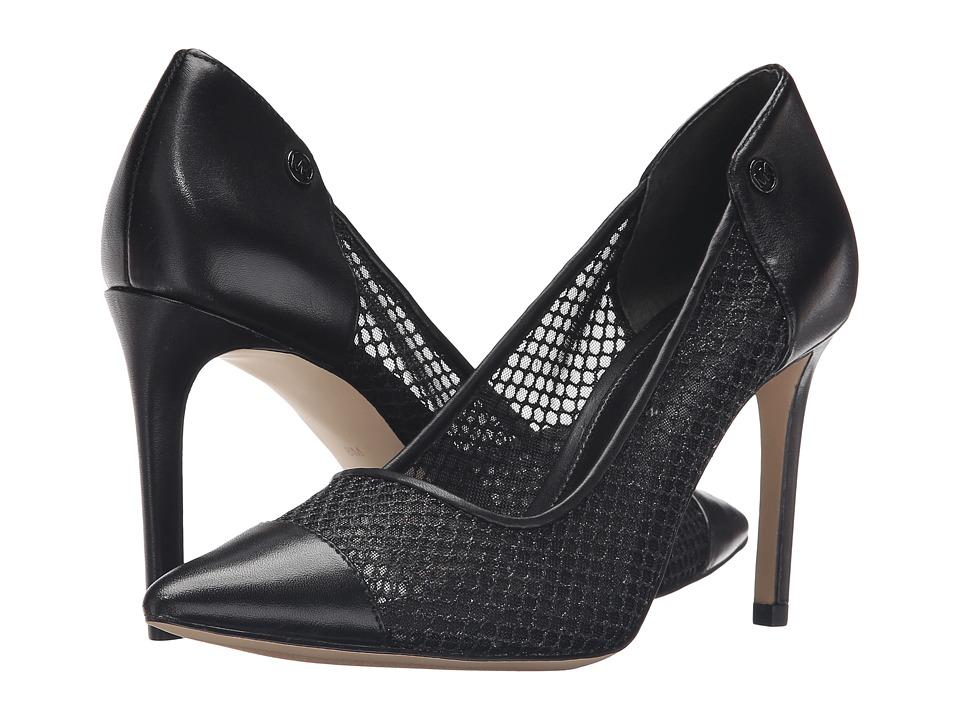 MICHAEL Michael Kors - Leilah Pump (Black/Black Glitter Mesh/Mesh/Nappa) Women's Shoes