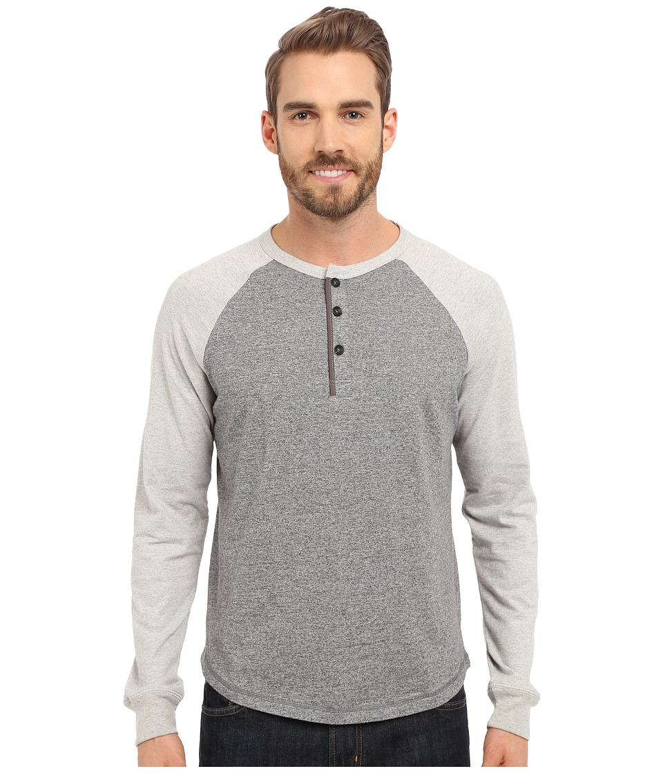True Grit - Twisted Heathers Long Sleeve Raglan Henely (Charcoal Heather) Men's Clothing