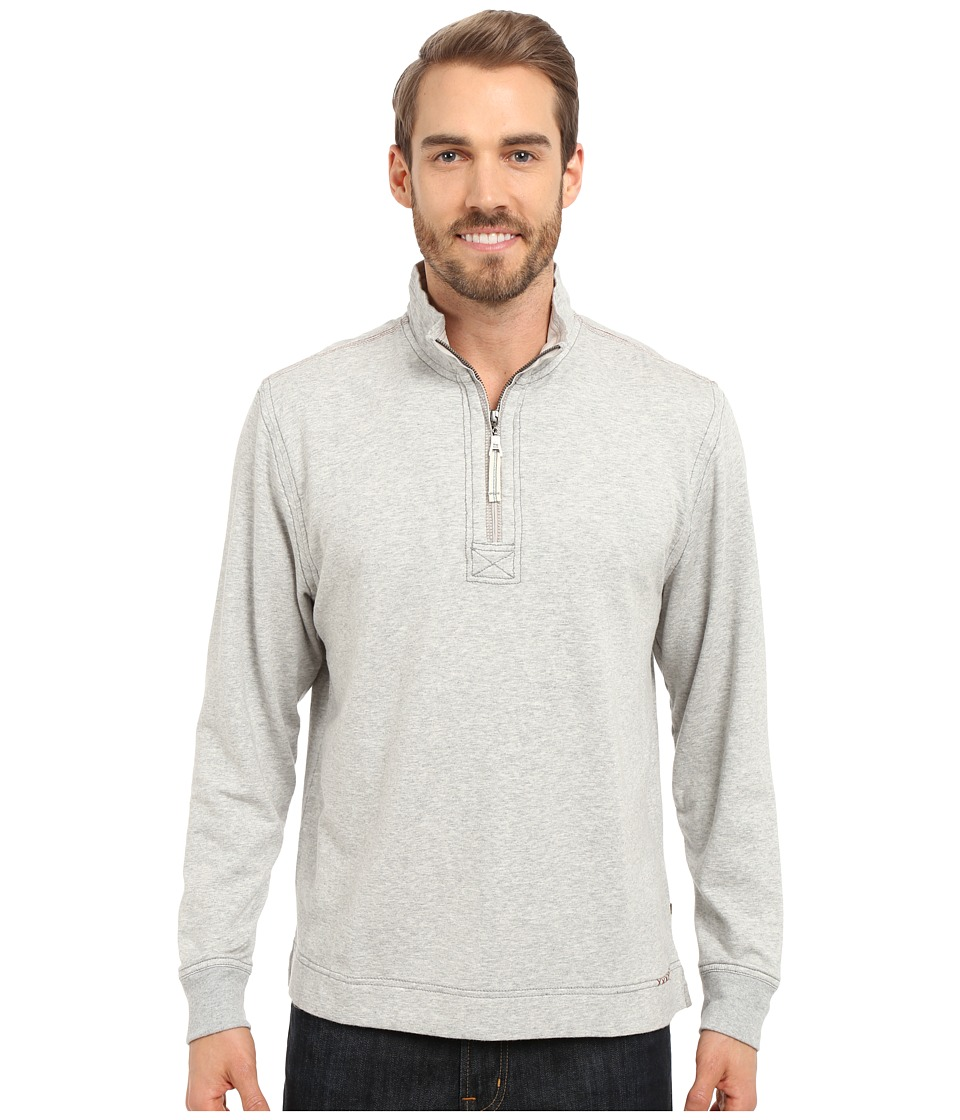 True Grit - Cashmere Heather Fleece 1/2 Zip Pullover (Heather Grey) Men's Clothing