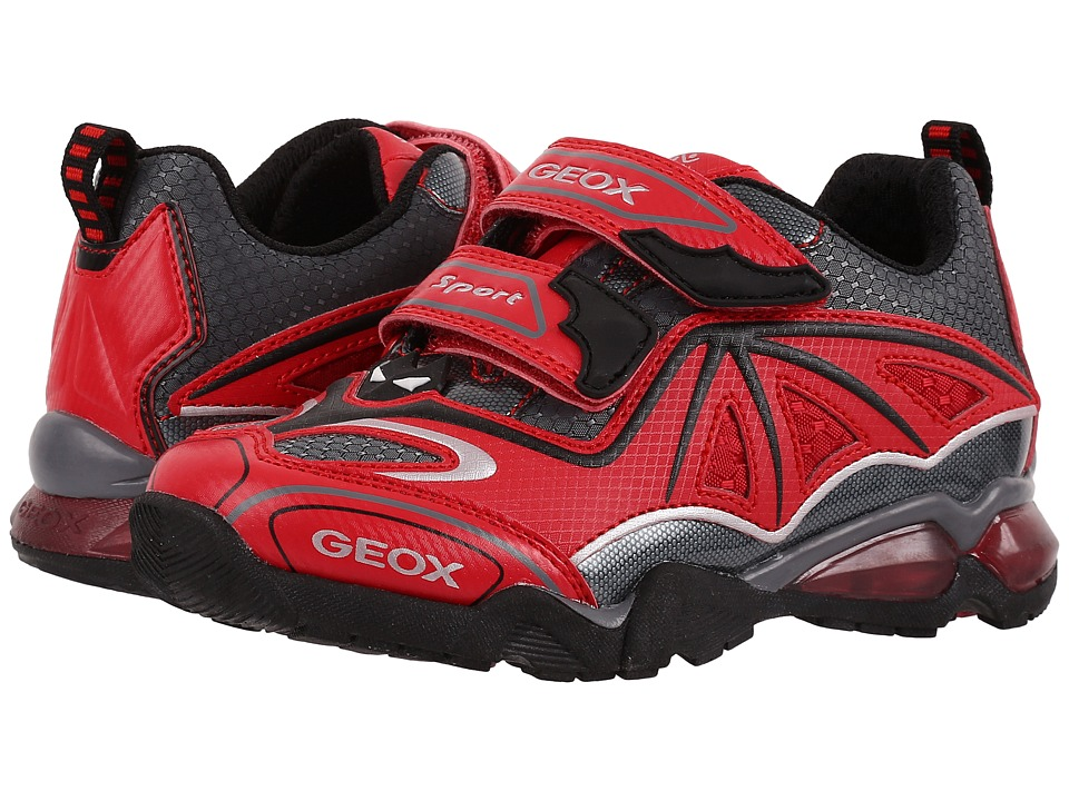 Geox Kids - Jr Light Eclipse 2 BO 2 (Toddler/Little Kid) (Red/Dark Grey) Boy's Shoes