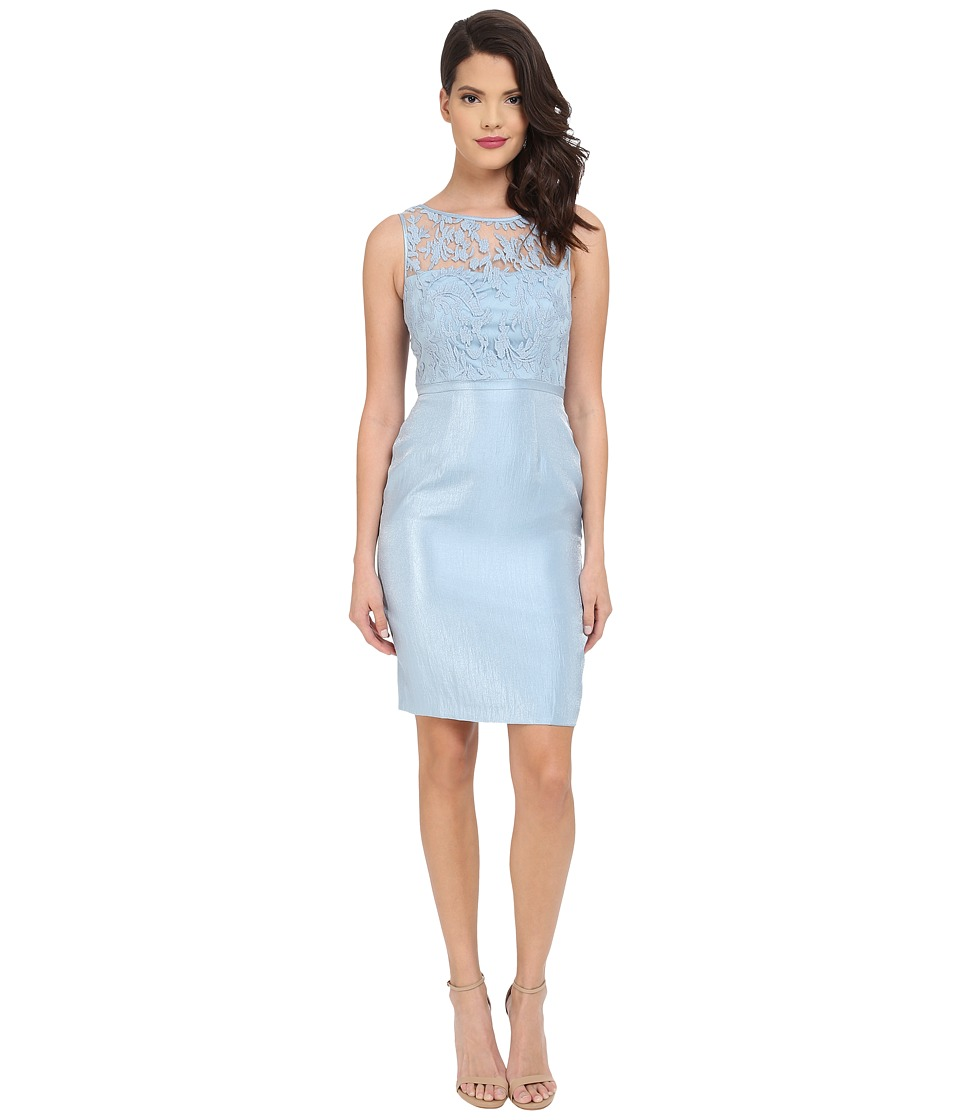 Adrianna Papell - Bow Detail Lace Top Sheath (Dew) Women's Dress