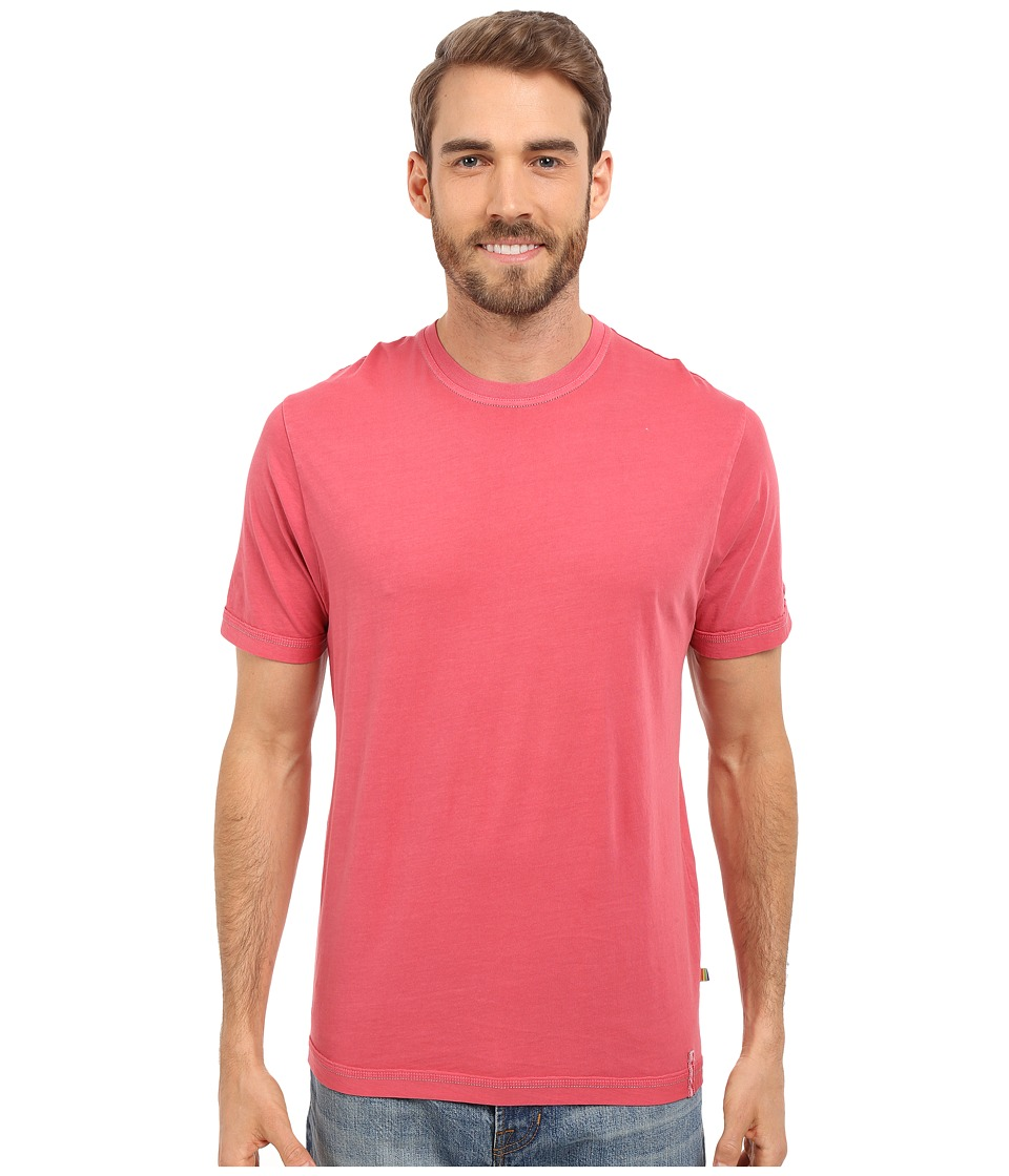 True Grit - Combed Cotton and Vintage Pigment Dyed Short Sleeve Basic Crew Neck Tee w/ Stitch Detail (Vintage Red) Men
