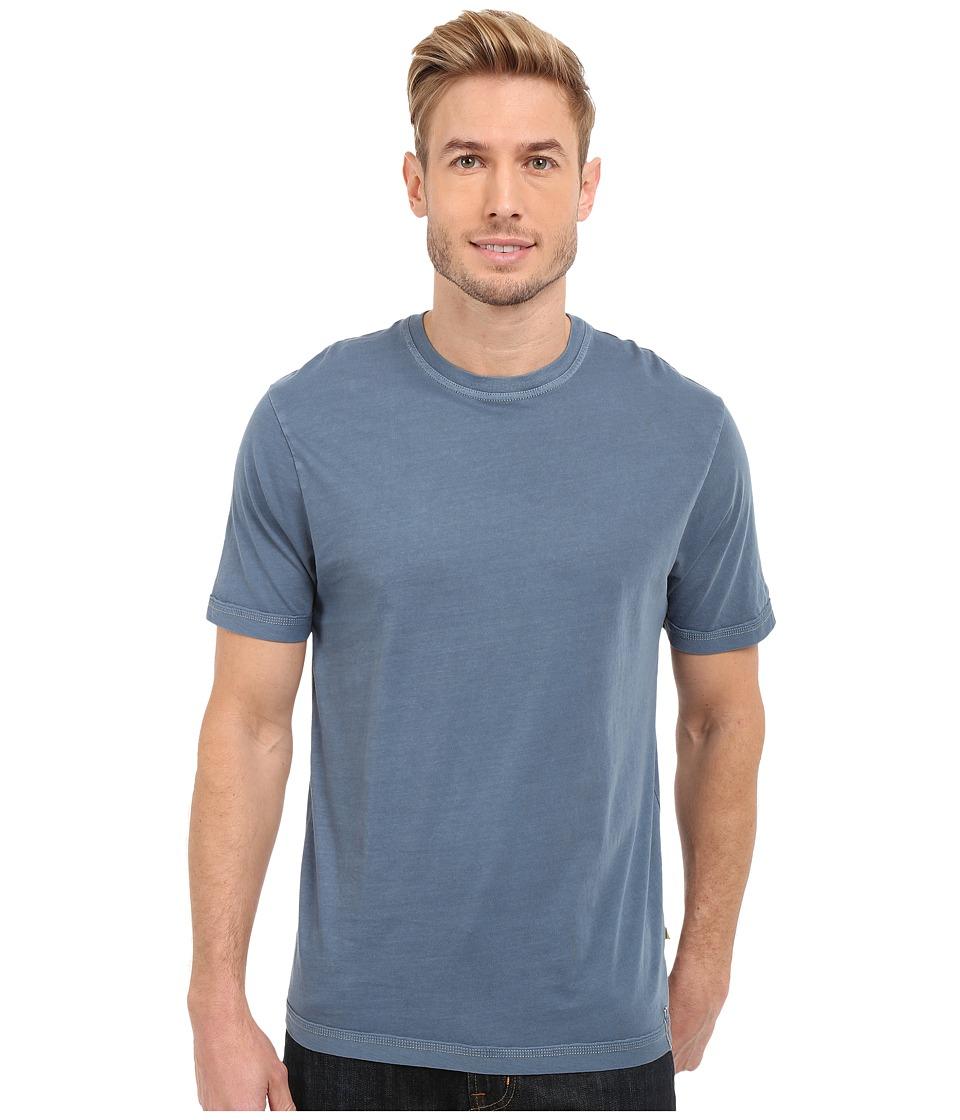 True Grit - Combed Cotton and Vintage Pigment Dyed Short Sleeve Basic Crew Neck Tee w/ Stitch Detail (Vintage Indigo) Men's T Shirt