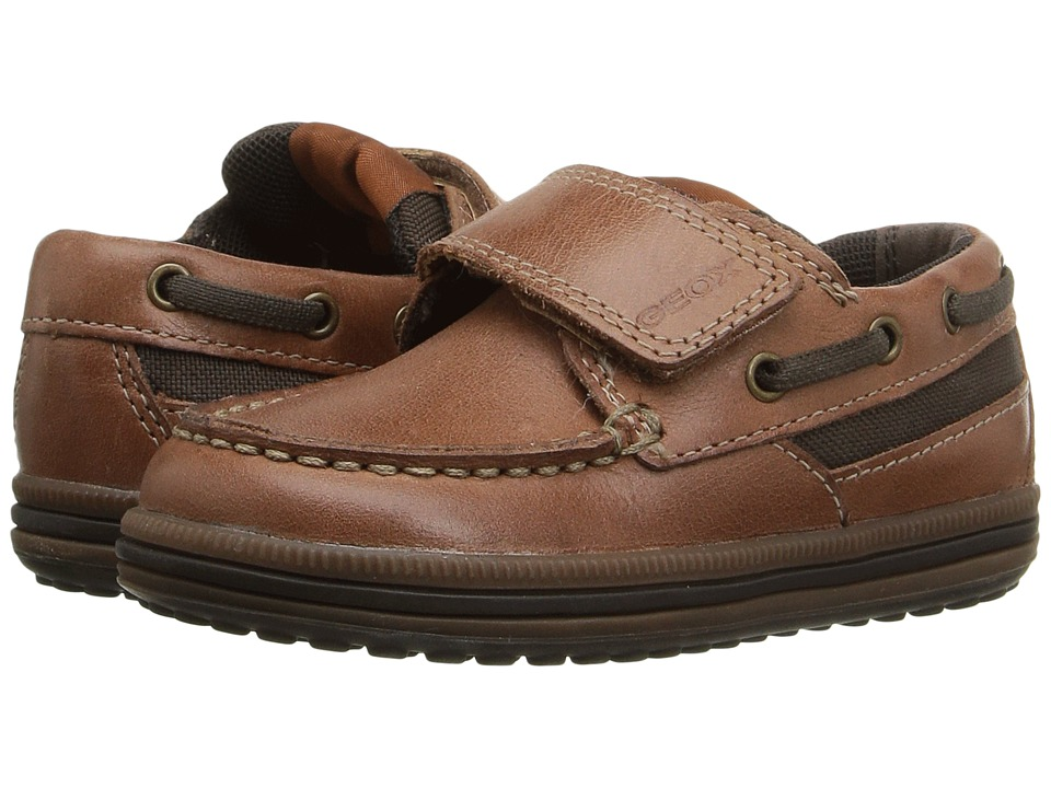Geox Kids - Jr Elivis 29 (Toddler/Little Kid) (Light Brown/Coffee) Boy's Shoes