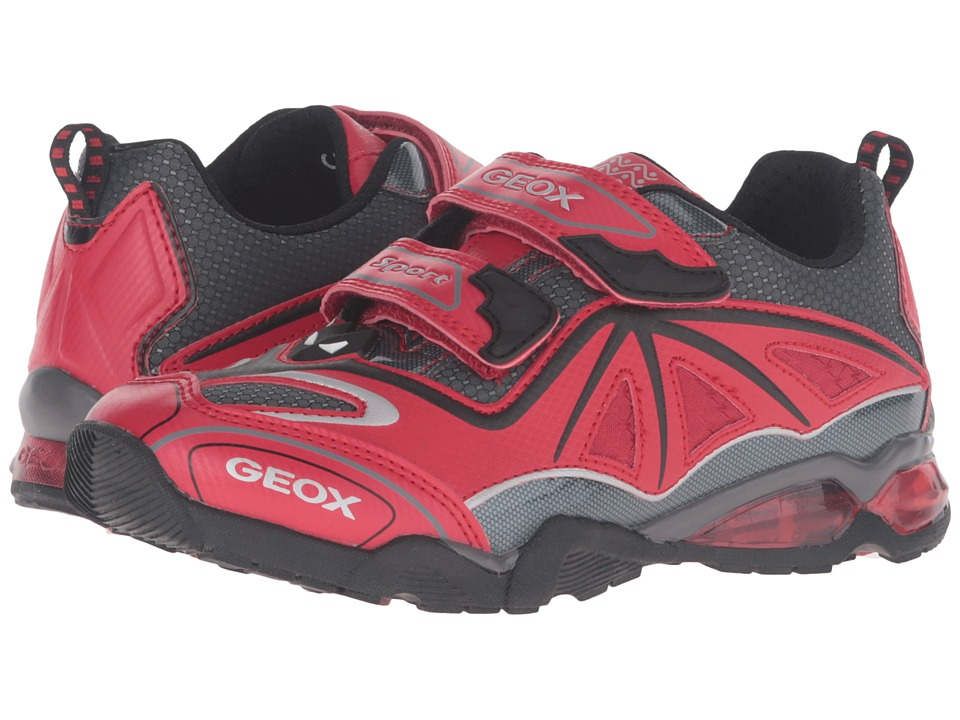 Geox Kids - Jr Light Eclipse 2 BO 2 (Little Kid) (Red/Dark Grey) Boy's Shoes