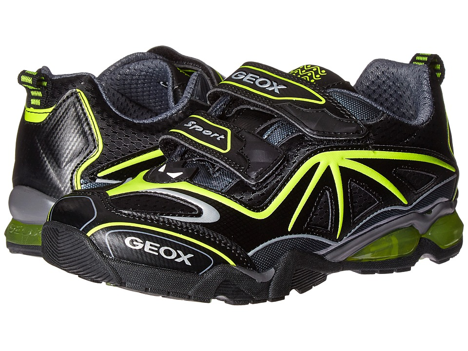 Geox Kids - Jr Light Eclipse 2 BO 2 (Little Kid) (Black/Lime) Boy's Shoes