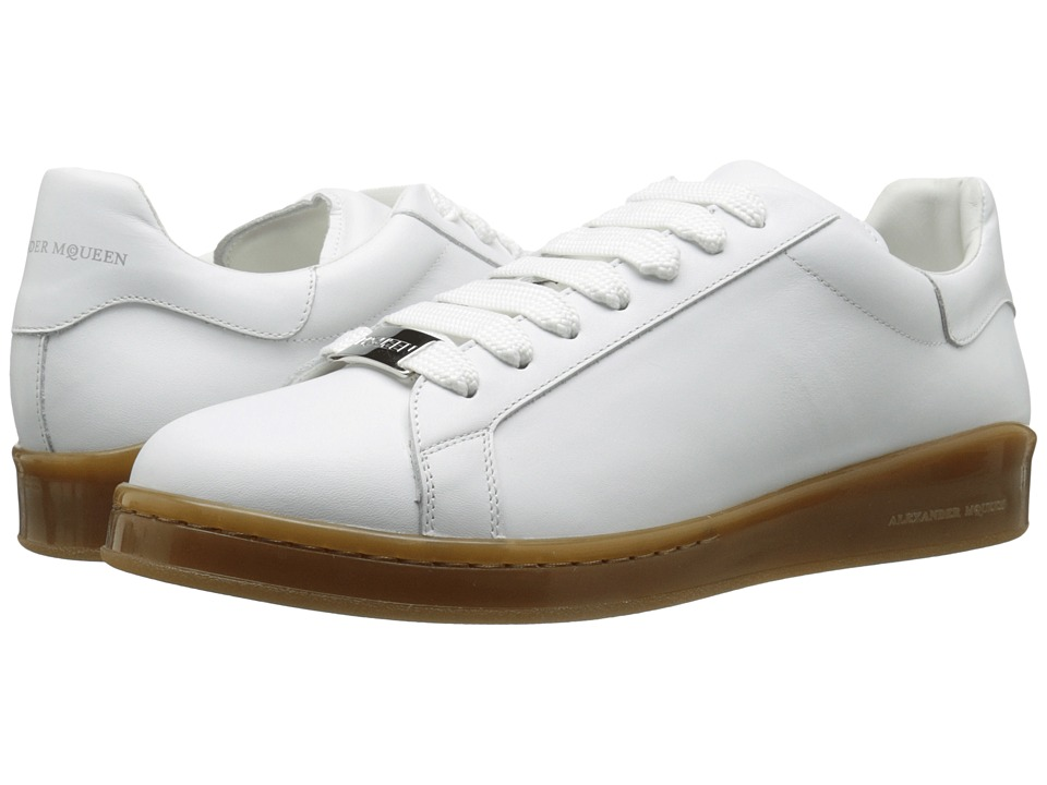 Alexander McQueen - Lace-Up Sneaker (White) Men's Lace up casual Shoes