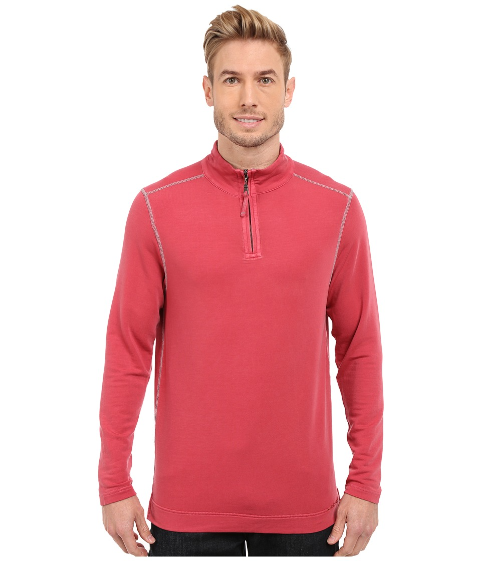 True Grit - Lightweight Tencel 1/2 Zip Pullover (Vintage Red) Men's Long Sleeve Pullover