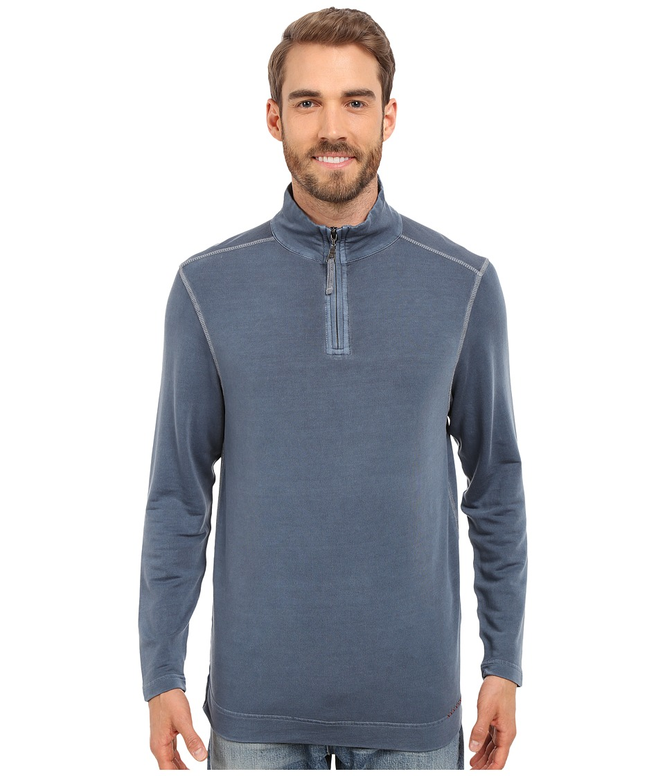 True Grit - Lightweight Tencel 1/2 Zip Pullover (Vintage Indigo) Men's Long Sleeve Pullover