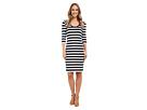 Striped Slim Ponte Dress