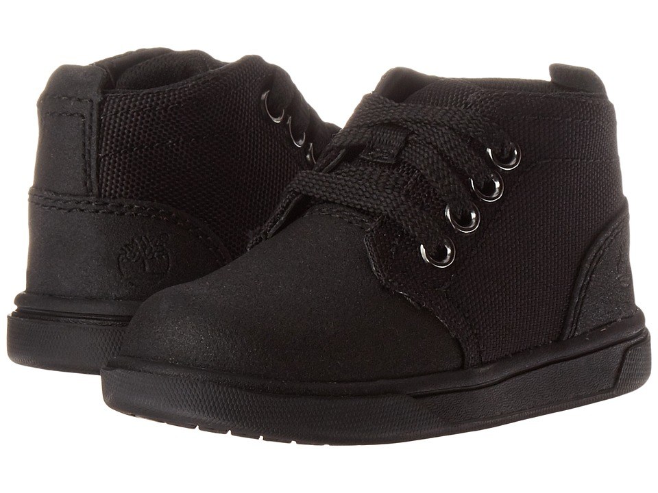 Timberland Kids - Groveton Chukka Leather and Fabric (Toddler/Little Kid) (Black Tech Tuff Leather) Kid's Shoes