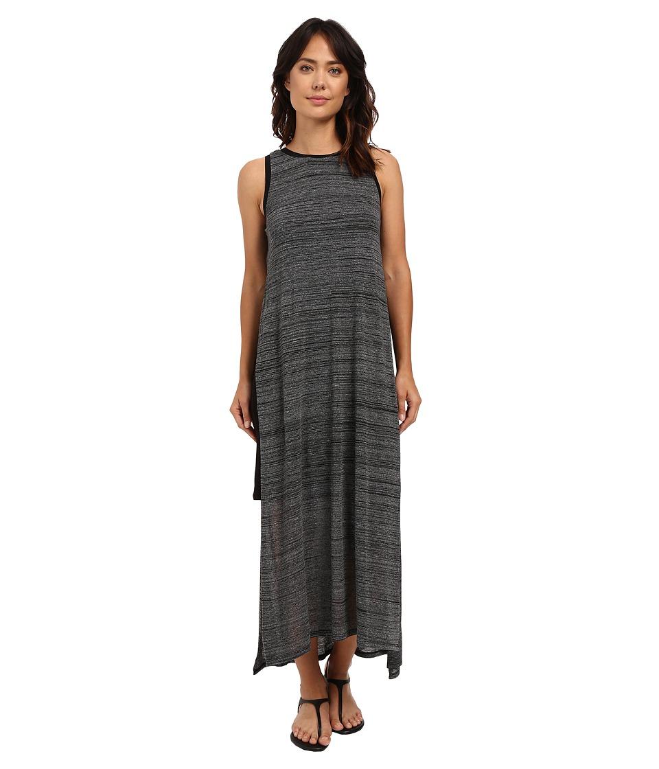 kensie Mixed Streaky Jersey Midi Dress KS6K7520 (Black Combo) Women