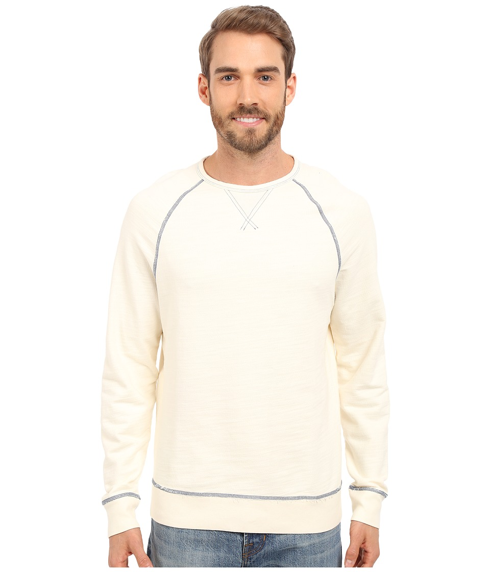 True Grit - Luxe-Soft Indigo Stitch Terry Crew Neck Sweatshirt w/ Vintage Dye (Vintage Natural) Men's Sweatshirt