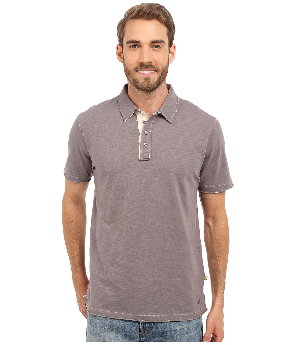 True Grit - Slub Jersey Short Sleeve Vintage Polo (Vintage Grey) Men's Short Sleeve Pullover