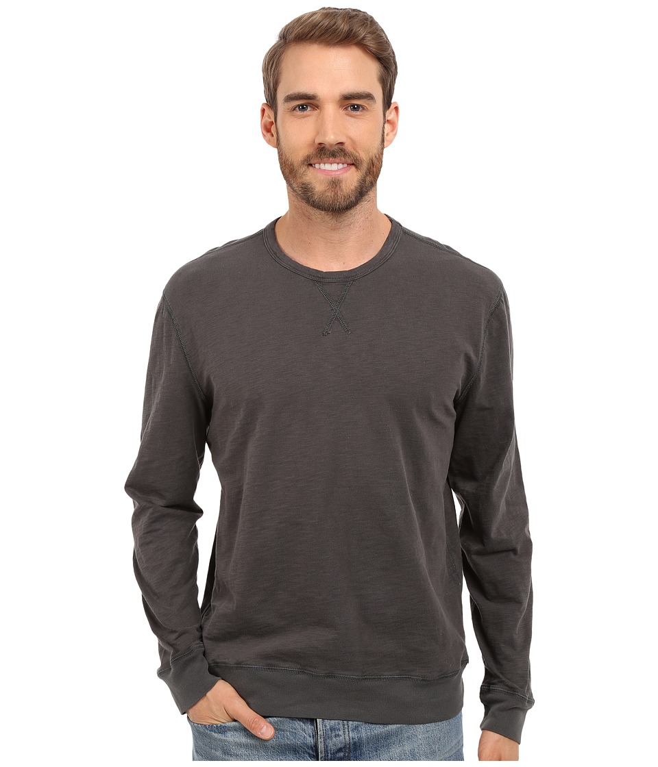 True Grit - Lightweight Soft Slub Sweatshirt w/ Stitch Details (Vintage Black) Men's Sweatshirt