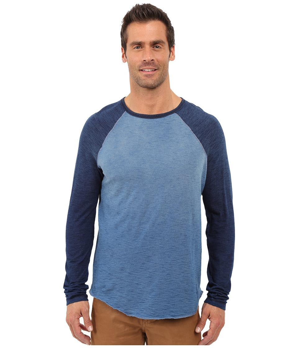 True Grit - Genuine Indigo Knit Long Sleeve Raglan Crew (Denim) Men's Long Sleeve Pullover