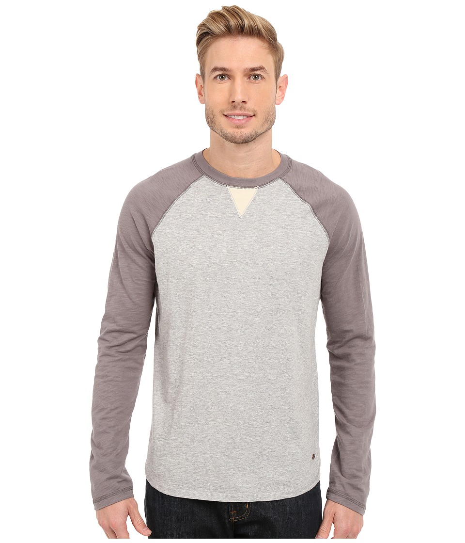 True Grit - Vintage Raglan (Vintage Grey/Heather Grey) Men's Long Sleeve Pullover