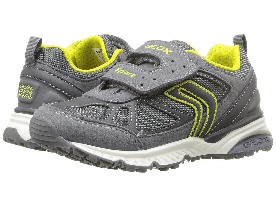 Geox Kids - Jr Bernie 14 (Toddler/Little Kid) (Grey/Lime) Boy's Shoes